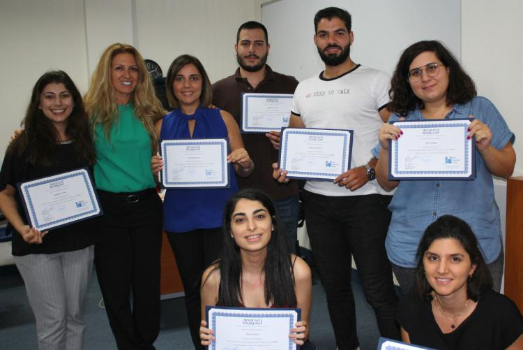 CAPM workshop graduates with their certificates