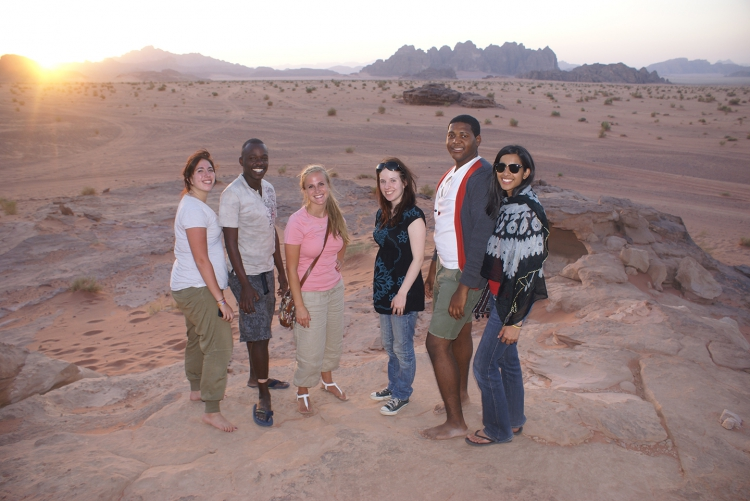 Students in Wadi Rum