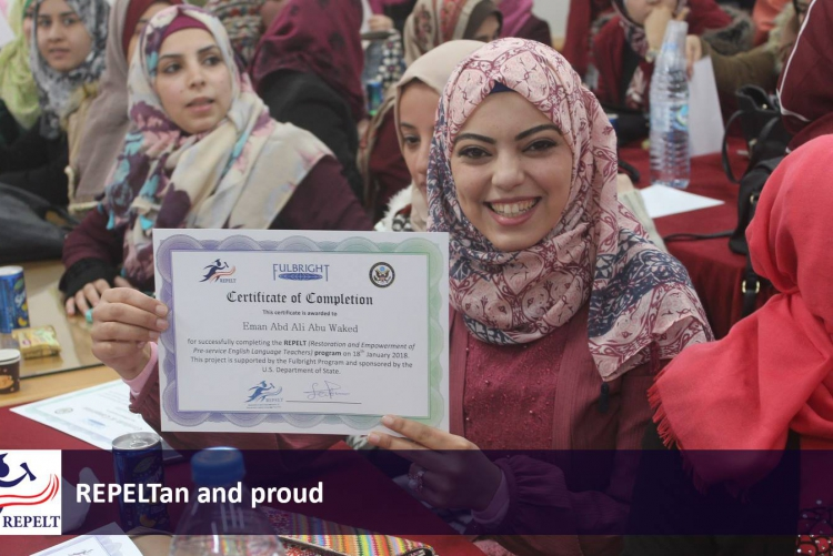 Fatma launched an intensive training program for empowering English language teachers in Gaza.