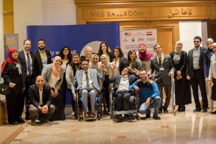 Group of students from the HEI university disability service center
