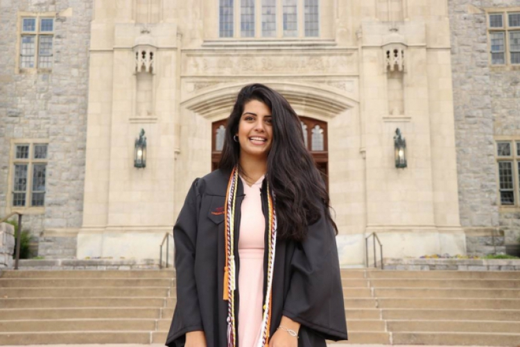 Lisa Shalhoub on graduation day at Virginia Tech