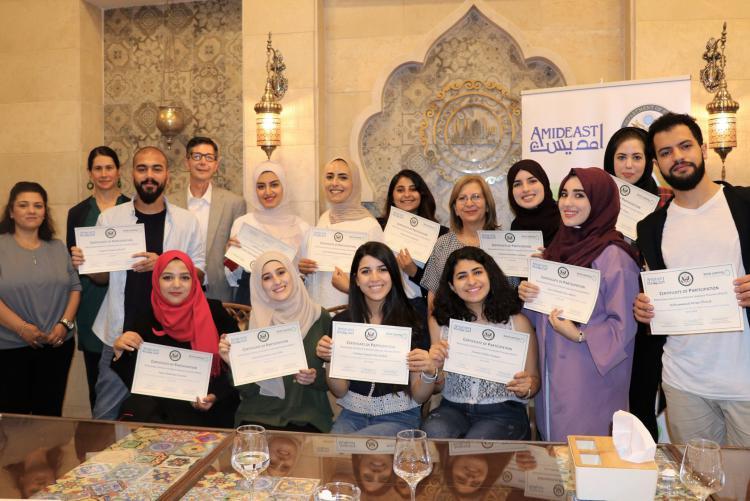 West Bank graduates of the PCELT program