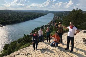 Fulbrighters enjoy hiking during their programs in Texas.