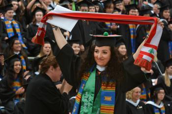 Lebanese DKSSF Scholar Marwa Mikati at her graduation at Mount Holyoke College