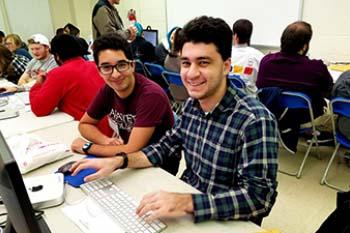 DKSSF student Wassim tutoring fellow student