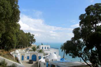 Overlooking the ocean in Tunisia
