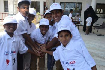 PYCE has engaged more than 9,000 at-risk youth in Yemen in sports, education, and other community-based activities.