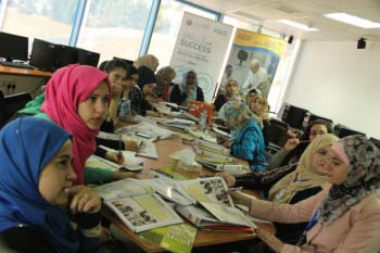 High school graduates in Jordan improved their chances of employment through the Skills for Success training program.