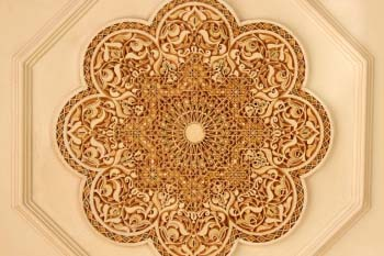 Ornate ceiling decoration in Casablanca