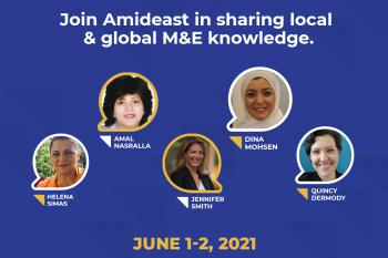 Amideast gLOCAL announcement featuring its five speakers