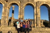 Fall 2018 students visit the Roman ruins of Volubilis in Morocco