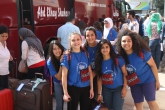 West Bank YES girls in front of bus at Allenby crossing