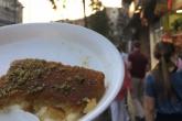Eating kanafeh in Amman