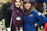 Participant meeting an astronaut.