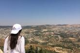 Enjoying the view of rolling green hills in Jordan