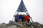 Students at the top of Mount Toubkal