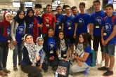 YES Gaza students in DC airport