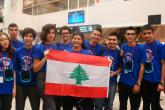 YES alumni at the airport on their way to the United States