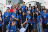 West Bank YES students together before departure to US