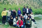 Students in the Atlas Mountains at Zaouiat Ahansal