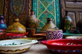 Colorful tagines in Morocco